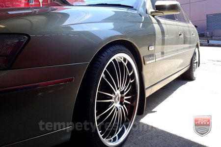 20x8.5 Lenso OP3 on HOLDEN COMMODORE