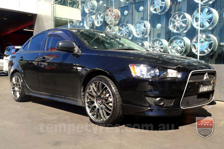 18x8.0 Lenso Type-M DG on MITSUBISHI LANCER