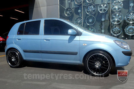 17x7.0 Lenso Type-M - MBJ on HYUNDAI GETZ