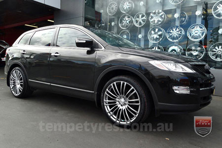 22x9.5 Lenso Como Shadow on MAZDA CX9
