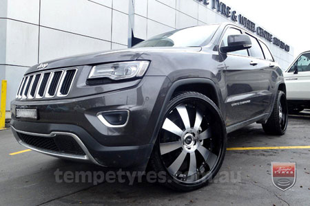 24x10 Lenso Concerto - BKI on JEEP GRAND CHEROKEE