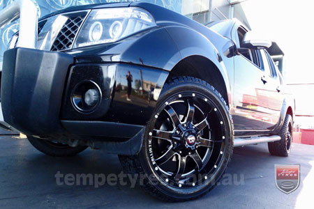 20x9.0 Ballistic Anvil Millworks on NISSAN NAVARA