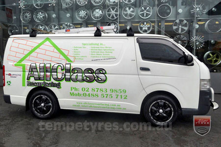16x7.0 Incubus S003 on TOYOTA HIACE