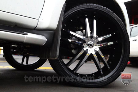 24x9.0 Giovinco G-03 Chrome on ISUZU D-MAX