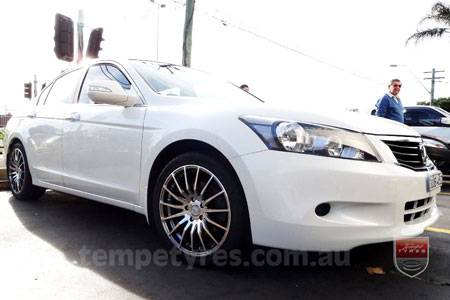 18x8.0 Lenso Conquista 5 CQ5 on HONDA ACCORD