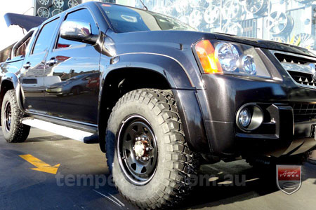 16x8.0 Gecko Steel Black on HOLDEN COLORADO