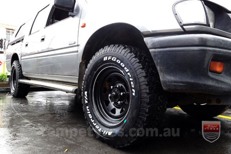 16x7.0 Gecko Steel Black on TOYOTA HILUX