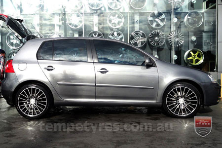 18x8.0 Lenso Eurostyle C ESC on VW GOLF