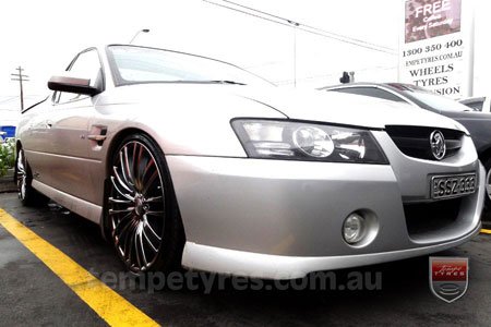 20x8.5 Lenso Como Shadow on HOLDEN COMMODORE