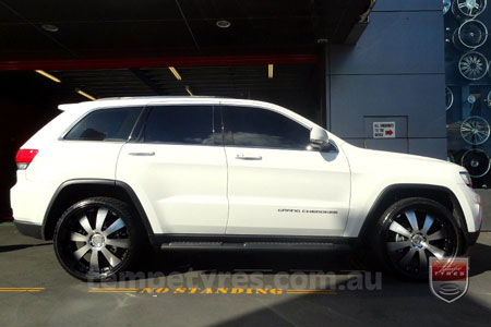 22x9.5 Lenso Concerto - BKQ on JEEP GRAND CHEROKEE
