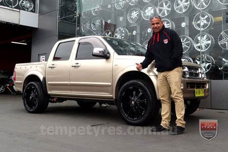 20x9.0 Ballistic Morax on HOLDEN RODEO