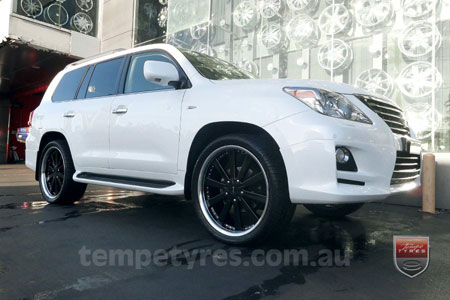 24x9.5 Diablo Tundra Black on LEXUS LX570