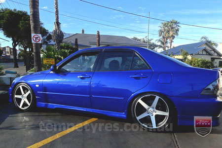 18x8.0 Lenso Conquista 7 CQ7 on LEXUS IS200