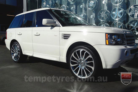 22x9.5 Autobiography GM on RANGE ROVER SPORT