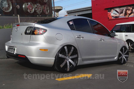 20x8.5 Lenso Riviera on MAZDA 3