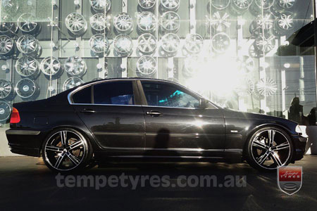 18x8.0 Lenso Eurostyle 6 ES6 on BMW 3 SERIES