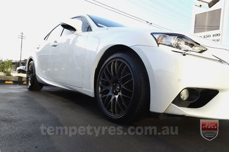 18x8.0 Lenso Type-M DG on LEXUS IS350