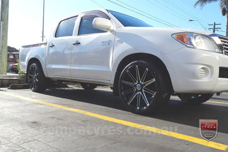 20x8.5 20x9.5 Lenso Conquista 8 CQ8 on TOYOTA HILUX
