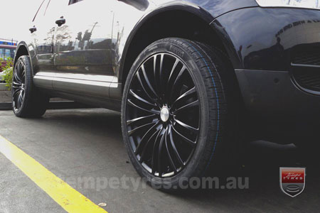 22x9.5 Lenso Como Black on VW TOUAREG