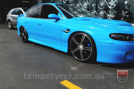20x8.5 Lenso Rio on HOLDEN COMMODORE