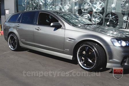 20x8.5 20X10 Lenso Groove Black on HOLDEN COMMODORE
