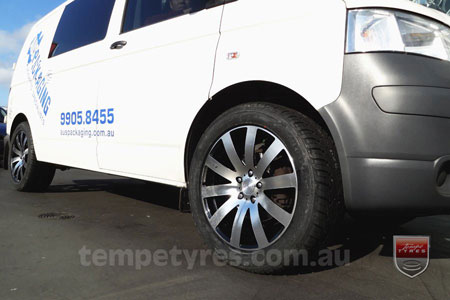 19x8.0 Kspeed Biaggi on VW TRANSPORTER