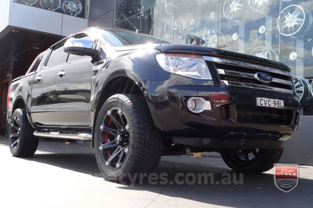 20x9.0 Ballistic Jester on FORD RANGER