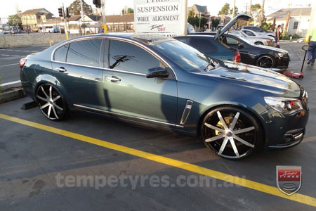 22x8.5 Incubus Zenith - MB on HOLDEN VF COMMODORE