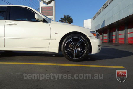 17x7.5 Lenso Eurostyle 6 ES6 on LEXUS IS200