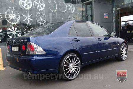 20x8.5 20x9.5 Lenso Conquista 5 CQ5 on LEXUS IS200