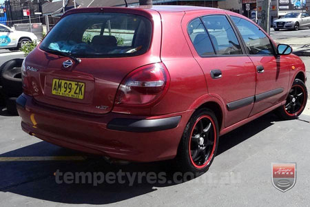 16x7.0 Lenso DC6 MBRG on NISSAN PULSAR