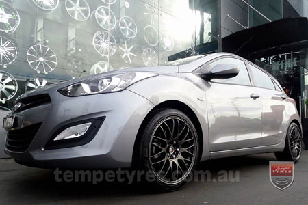 18x8.0 Lenso Type-M DG on HYUNDAI i30