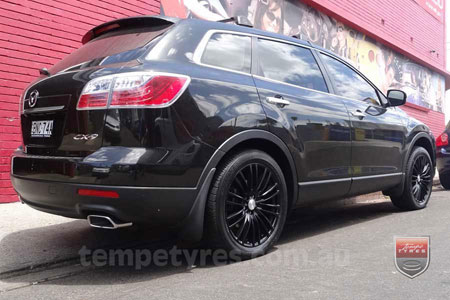 20x8.5 Lenso Como Black on MAZDA CX9
