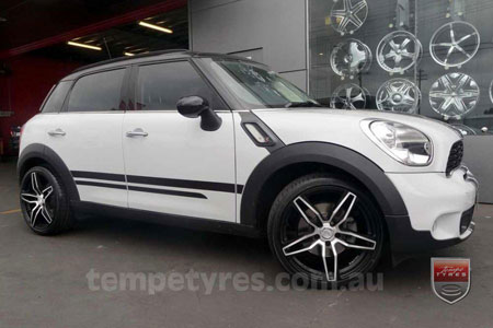 19x8.5 Lenso Conquista 4 CQ4 on MINI COOPER