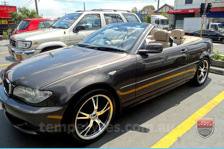 18x7.5 Panther Vector on BMW E46 CONVERTIBLE