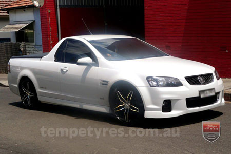 19x8.5 Lenso Conquista 4 CQ4 on HOLDEN VE UTE