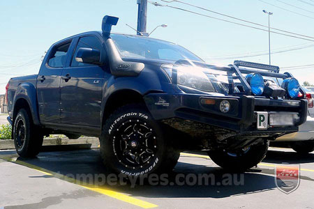 17x9.0 Ballistic Mace Millworks on HOLDEN COLORADO
