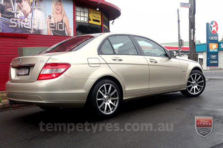 17x8.0 MB688 on MERCEDES C CLASS