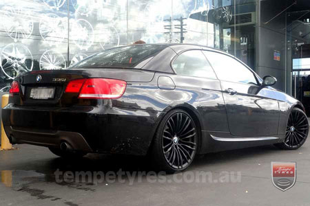 19x8.5 19x9.5 BM590 Black on BMW 3 SERIES