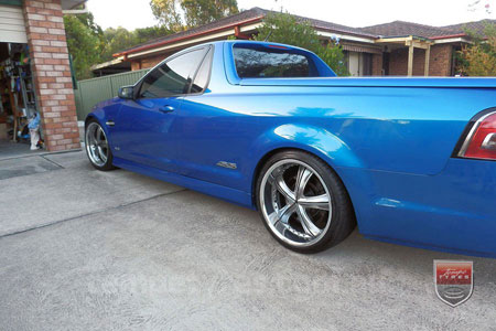 20x8.5 20X10 Lenso Groove Shadow on HOLDEN VE UTE