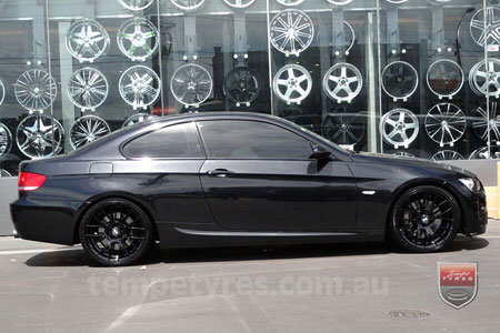 19x8.5 19x9.5 M3CSL Black on BMW E92