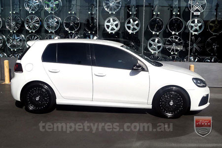 19x8.5 Lenso BSX Black on VW GOLF R