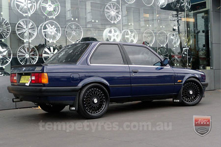 19x8.5 Lenso BSX Black on BMW E30