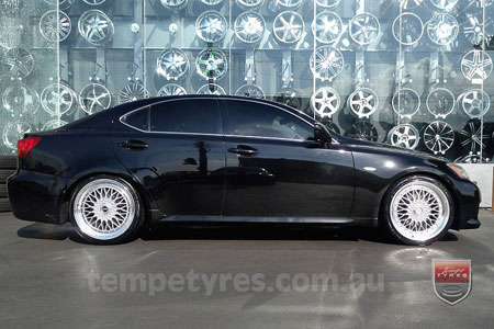 19x8.5 Lenso BSX Silver on LEXUS IS 250