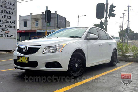 17x7.5 Lenso BSX Black on HOLDEN CRUZE