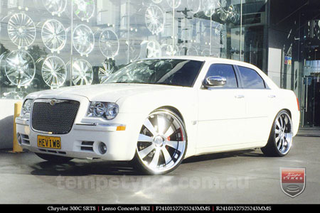 24x10 Lenso Concerto - BKI on CHRYSLER 300C SRT8