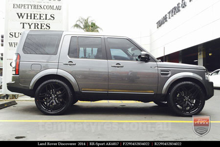 22x9.5 RRSPORT Matte Black on LAND ROVER DISCOVERY