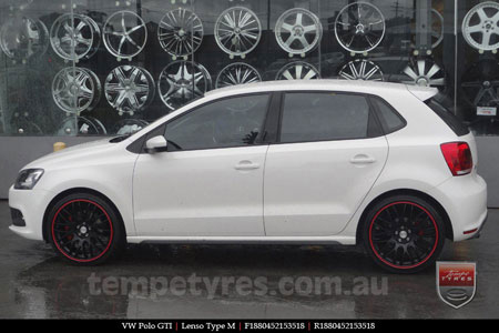 18x8.0 Lenso Type-M MBRG on VW POLO