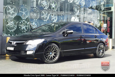 17x7.0 Lenso Type-M - DG on HONDA CIVIC