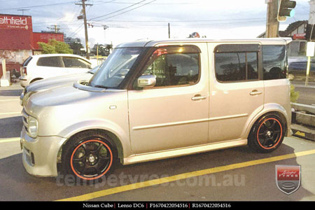 16x7.0 Lenso DC6 MBRG on NISSAN CUBE